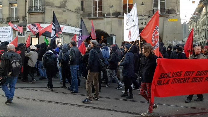 Anti-WEF rally in Bern, Switzerland