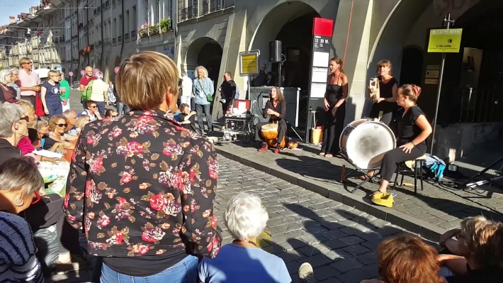 Buskers street music festival from Bern. Switzerland