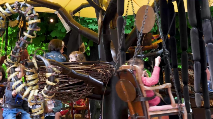 Carousel at a Children's Fete in Hendaye South West France