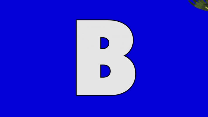 Letter B and Bird (background)