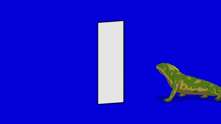 Letter I and Iguana (background)