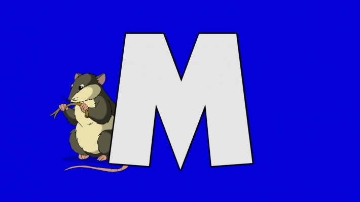 Letter M and  Mouse (background)