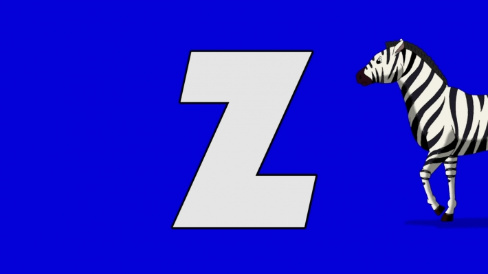 Letter Z  and  Zebra  (background)
