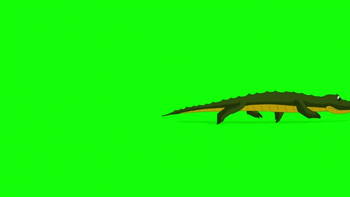Little Crocodile Runs Chroma