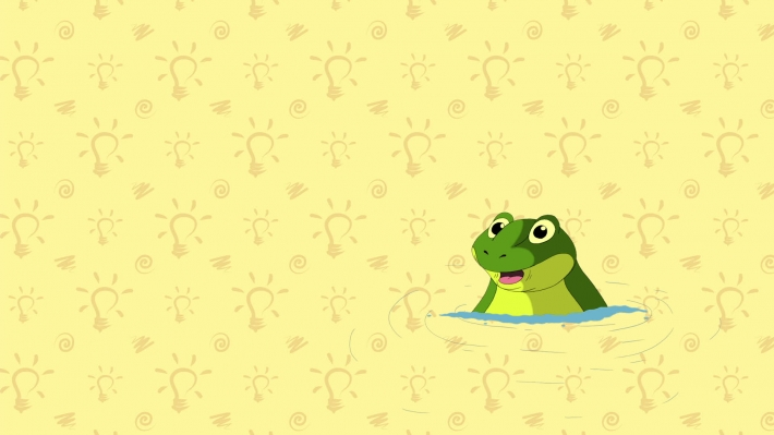 Toad. English ZOO Alphabet - letter T