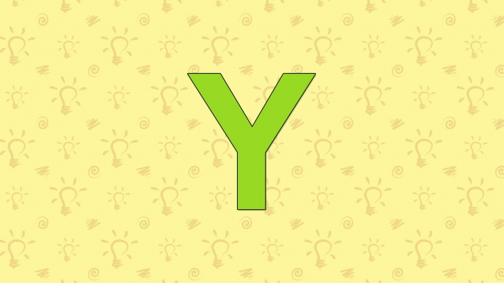 Yak. English ZOO Alphabet - letter Y