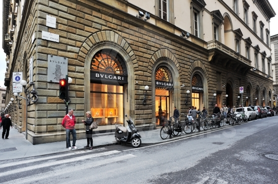 Bvlgari store in florence, one of th