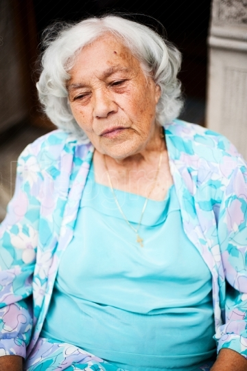 Elder woman portrait
