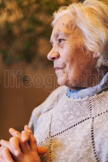 Happy elder woman portrait