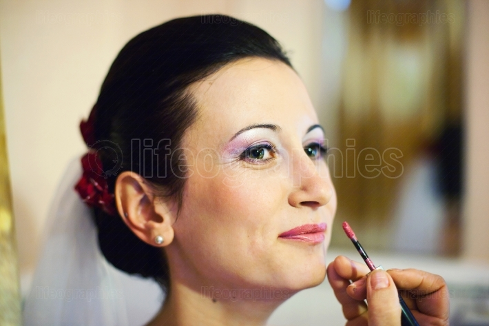 Make-up for the bride