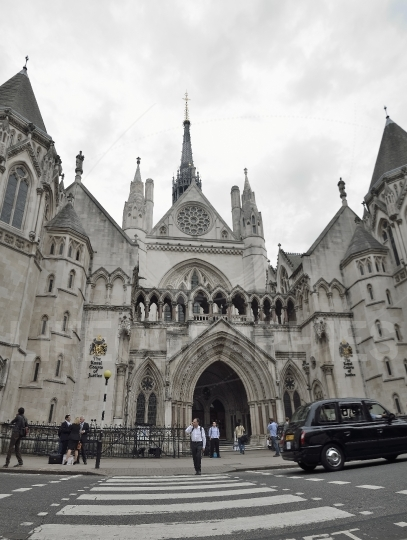 Royal courts of justice. london