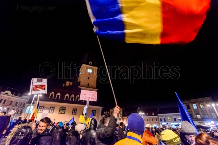 2017 - romanians biggest anti-corruption protest in decades