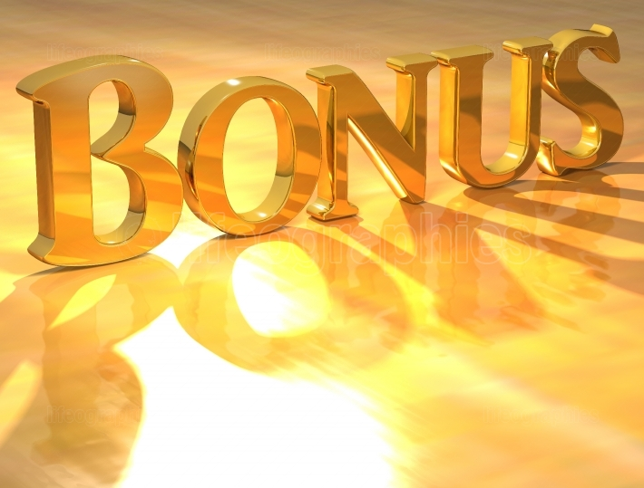 3D Bonus Gold text