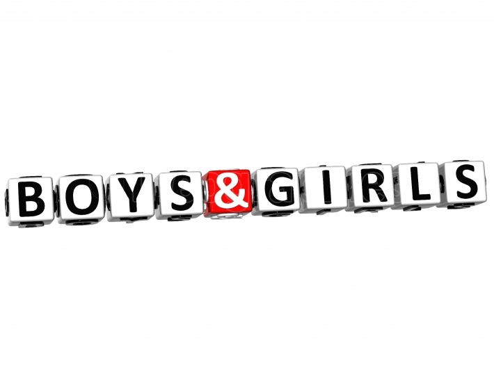 3D Boys And Girls Button Click Here Block Text