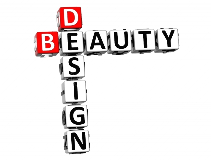 3D Design Beauty Crossword on white background