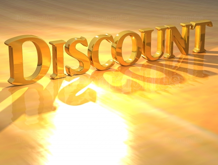 3D Discount Gold text