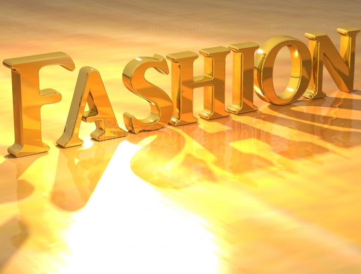 3D Fashion Gold text