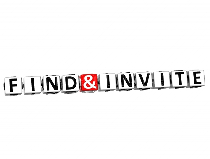 3D Find And Invite Button Click Here Block Text