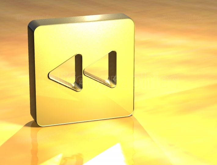 3D Forward Gold Sign
