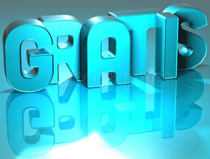 3D Gratis Blue Text
