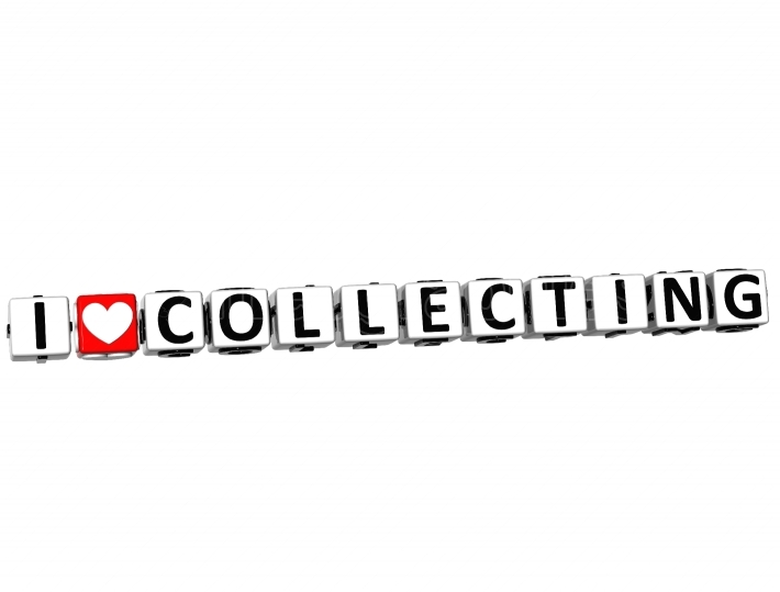 3D I Love Collecting Button Click Here Block Text