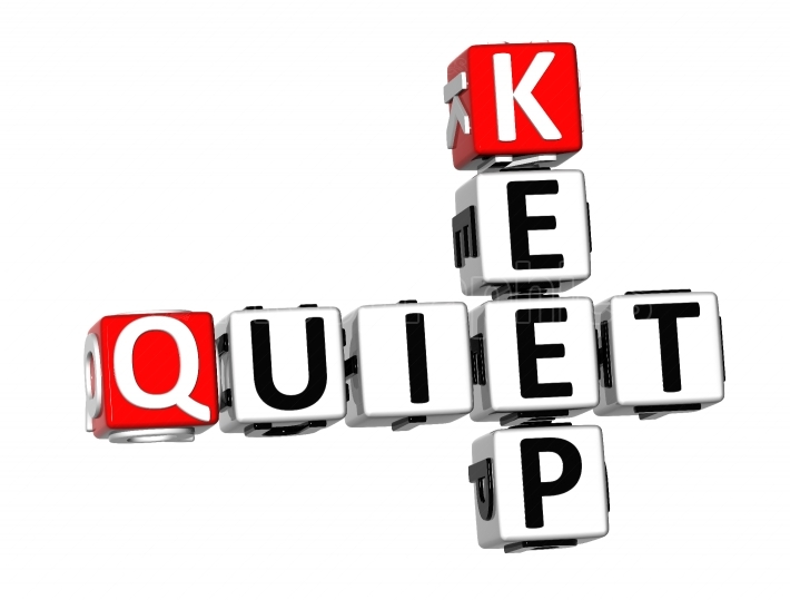 3D Keep Quiet Crossword
