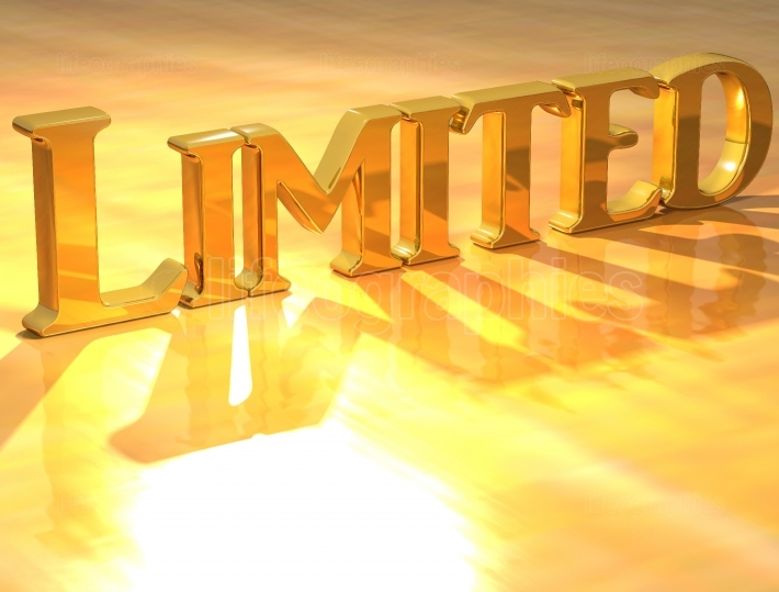 3D Limited Gold Text