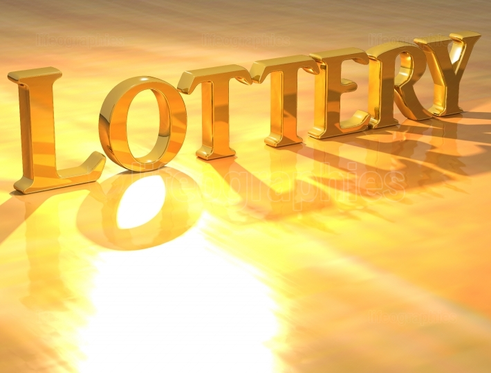 3D Lottery Gold text