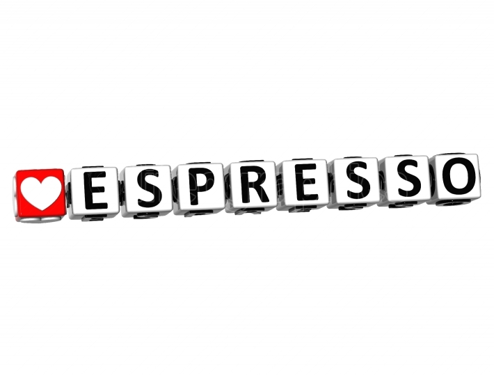 3D Love Espresso Button Click Here Block Text