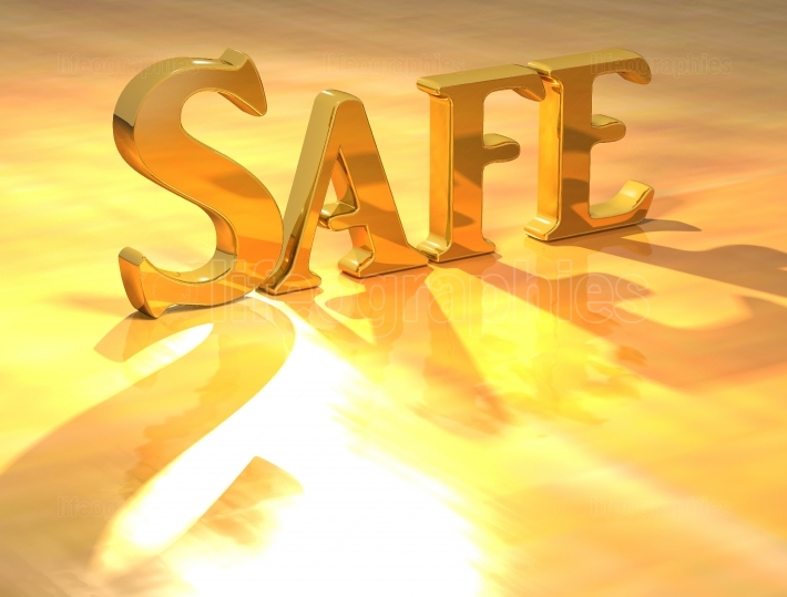 3D Safe Gold text