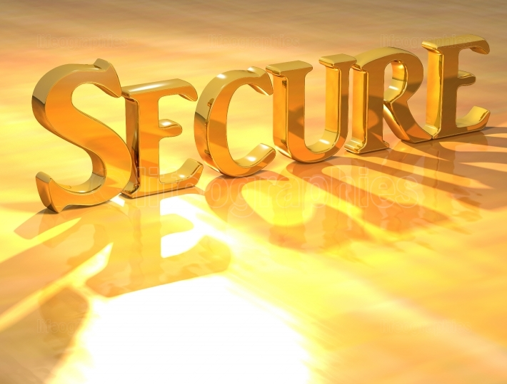 3D Secure Gold text