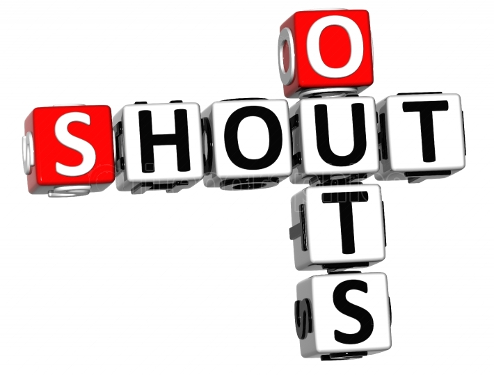 3D Shout Out Crossword cube words