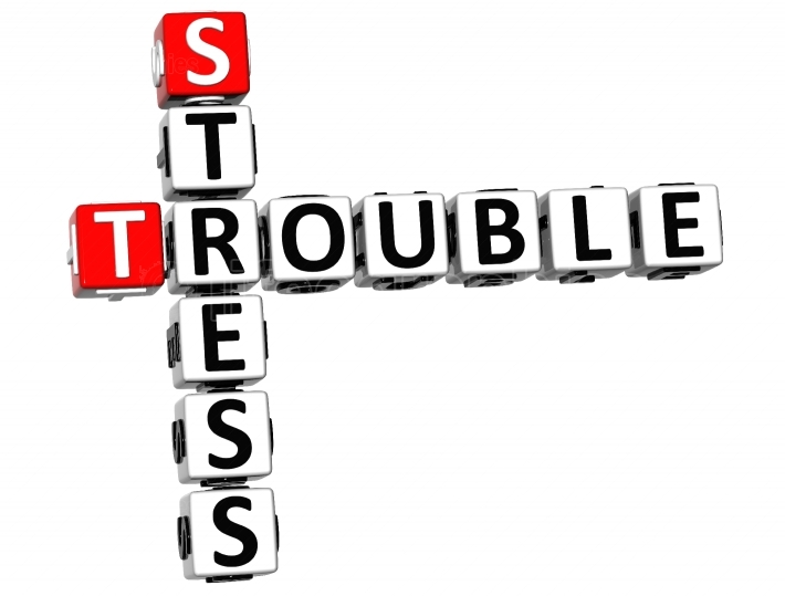 3D Stress Trouble Crossword