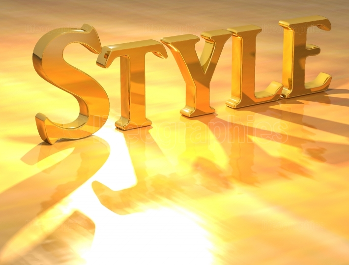 3D Style Gold text
