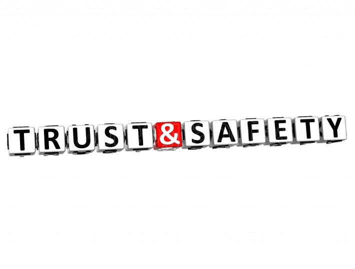 3D Trust And Safety  Button Click Here Block Text