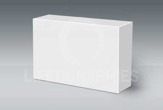 3D White Box on Ground