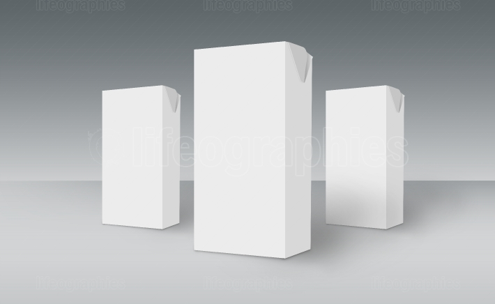 3D White Boxes on Ground
