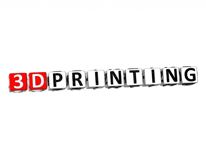 3D Word 3D Printing on white background