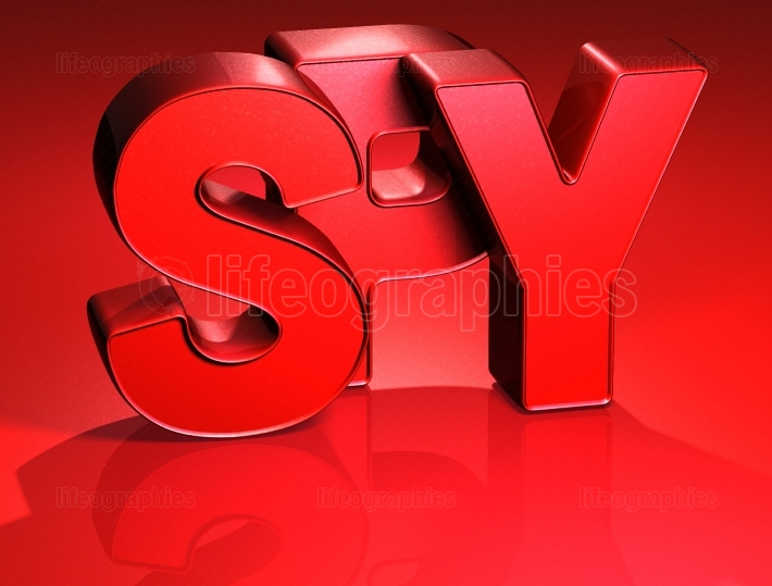 3D Word Spy on red background