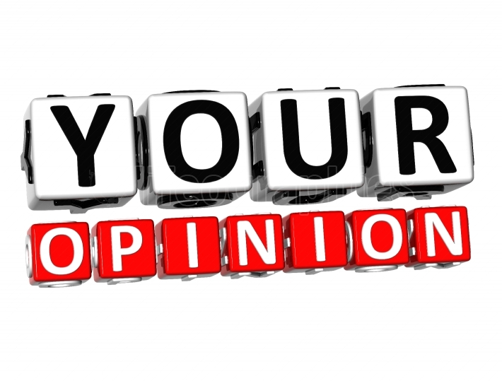 3D Your Opinion Button Click Here Block Text
