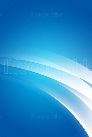 Abstract blue background with glowing white curves