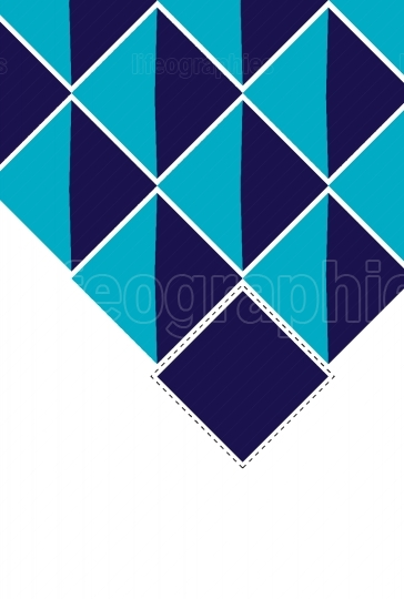 Abstract deep squares blue background