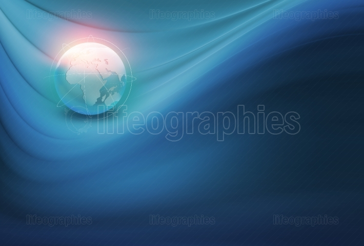 Abstract Global Connection Background Concept Series