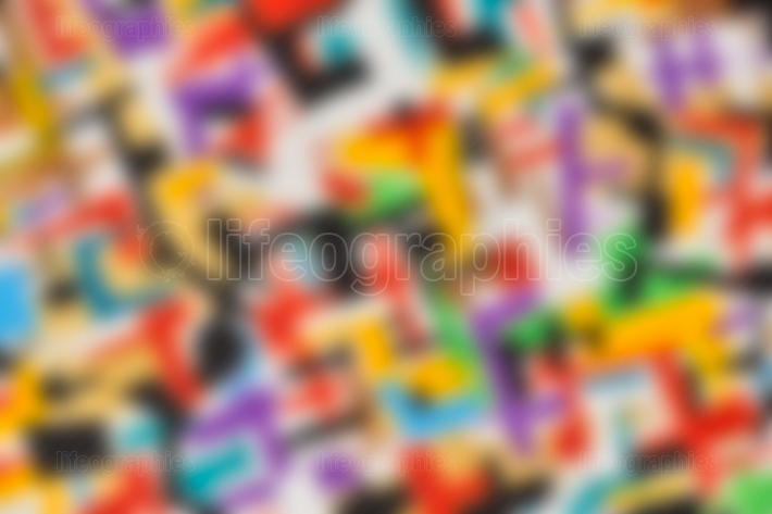 Abstract red magenta purple blue, yellow and green blur color gradient background for design concepts wallpapers web presentations and prints