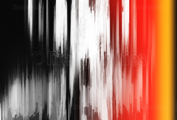 Abstract vertical bars painting with light leak