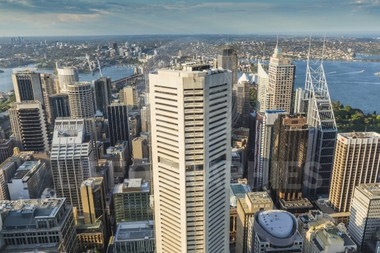 Aerial view from Sydney Tower in Sydney Australia