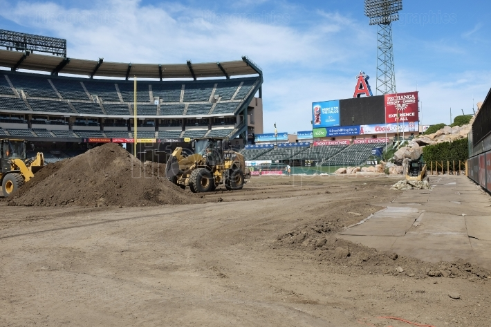 Angel Stadium Cleanup