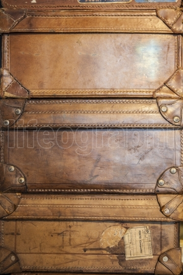 Antique leather luggage suitcases