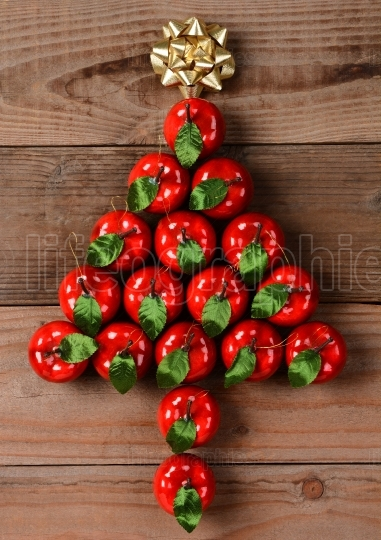 Apple Ornaments in Christmas Tree Shape