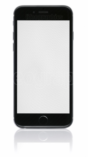 Apple space gray iphone 6 with blank screen